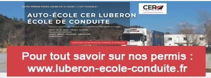 Consultez le Site CER LUBERON et tout savoir sur les permis et formations proposées.